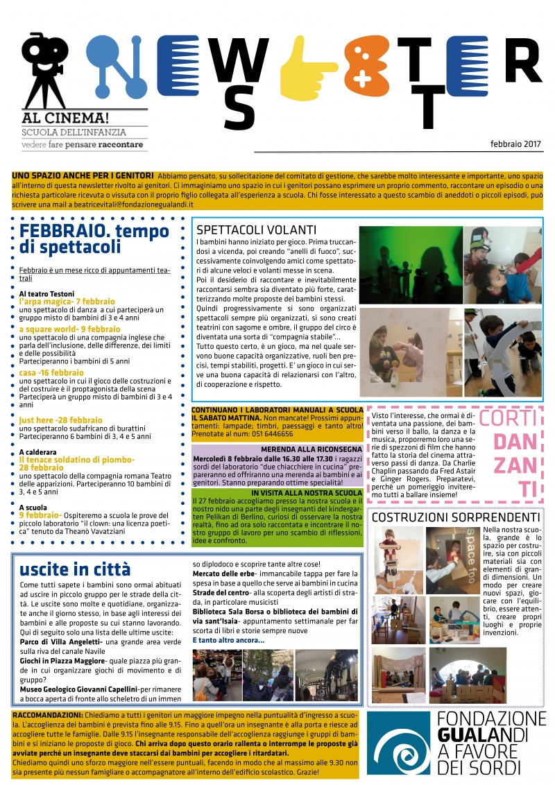 newsletter febbraio 2017