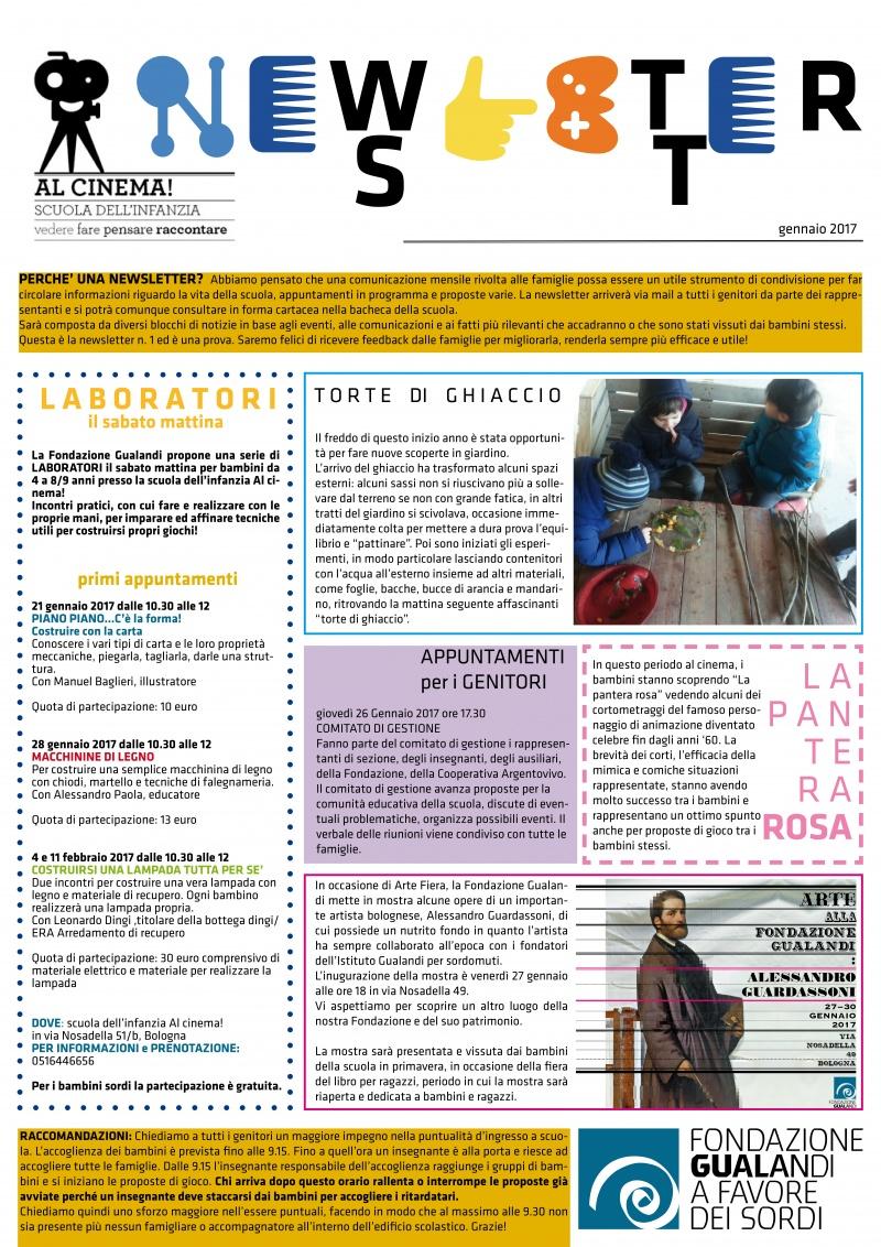 newsletter gennaio 2017