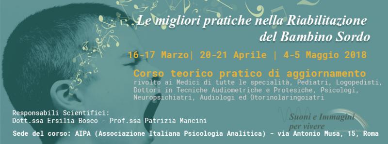 corso di aggiornamento sordità Roma 2018