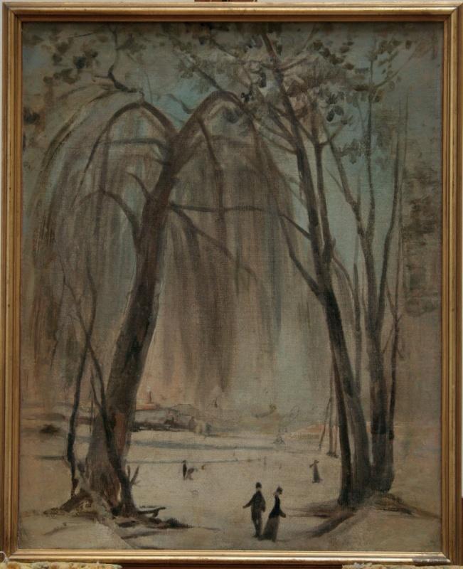 I pattinatori, 1880 c. Olio su tela, 50x40cm